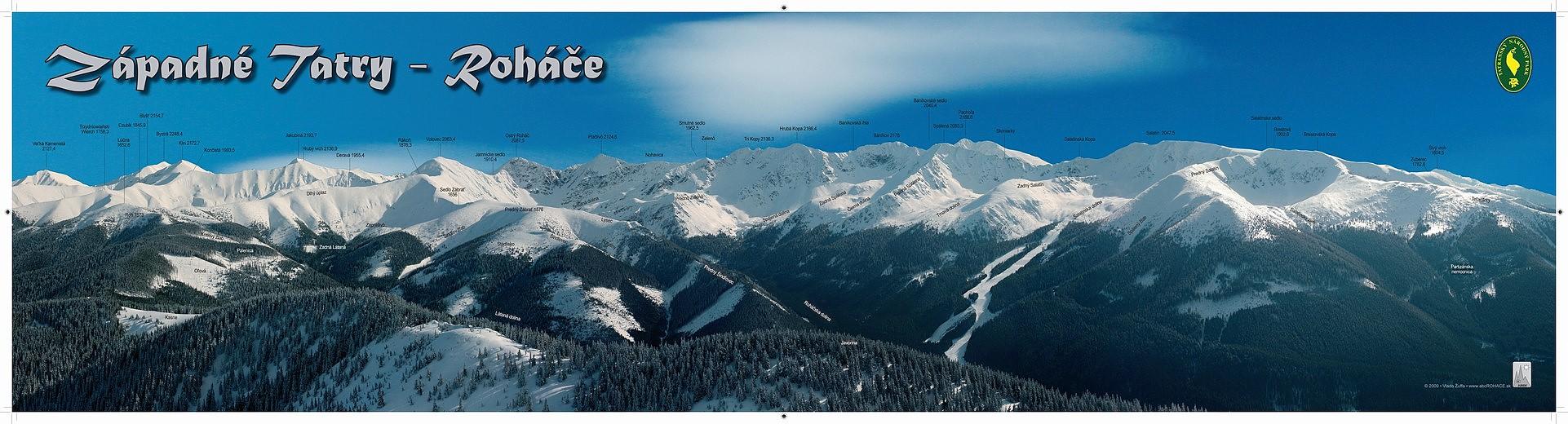 Panorama zima 98x25